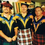 1998 uk tour - glenn peatling mark wright and matt smith get in touch with their family heritage - aprl98-039