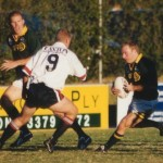 2002 state cships brisbane - brisbane v gold coast - matt ward looks for a way through - pgc02-009