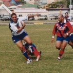 2002 state cships brisbane - far northern v barbarians - laurie nona steps out of one to score - pfn02-005