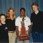 2002 state cships brisbane - presentation - john weier medallist barry nona with johns family -  pass02-029