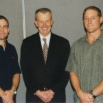 2002 state cships brisbane - presentation night - the commissioner with finals captains - pass02-028