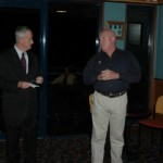 2005 state squad - academy - commissioner bob atkinsons with president supt pat ryan - pass05-013