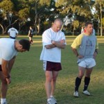 2006 arl national cships adelaide - ben rauter jason orman and trevor krause take a break - prla06-021