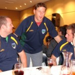 2006 arl national cships adelaide - dean anderson and dan kennedy get a story from paul anoleck - prla06-109
