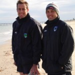 2006 arl national cships - dan kennedy and ben brouwer - recovery session at glenelg beach - prla06-062
