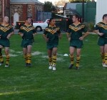 2006 arl national cships - trainer bob oriordan prepares the boys for battle v nt - prla06-033