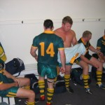2007 arl national cships perth - a victorious dressing shed after trouncing the adf - prla07-034