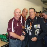 QLD POLICE V NSW POLICE 2014 COACH LINCOLN McLEOD WITH COMMISSIONER STEWART