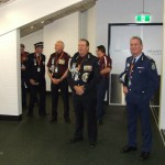 QLD POLICE V NSW POLICE 2014 COMMISSIONER STEWART AND COMMISSIONER SCIPIONE VISITING THE SHEDS