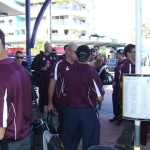 QLD POLICE V NSW POLICE 2014 GETTING ON THE BUS TO HEAD TO SUNCORP